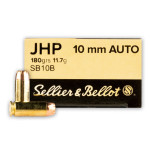 50 Rounds of 10mm Ammo by Sellier & Bellot - 180gr JHP