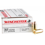 50 Rounds of .32 ACP Ammo by Winchester - 71gr FMJ