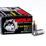 1000 Rounds of 9mm Makarov Ammo by Wolf - 92gr FMJ