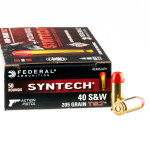 500 Rounds of .40 S&W Ammo by Federal Syntech Action Pistol - 205gr Total Synthetic Jacket