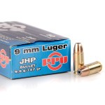50 Rounds of 9mm Ammo by Prvi Partizan - 147gr JHP