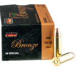 50 Rounds of .38 Spl Ammo by PMC - 132gr FMJ