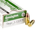 500 Rounds of 9mm Ammo by Remington - 115gr MC