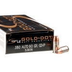 200 Rounds of .380 ACP Ammo by Speer LE - 90gr JHP - Dropped