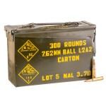 300 Round Ammo Can of 7.62x51mm Ammo by Malaysian Military Surplus - 146gr FMJ