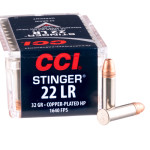 5000 Rounds of .22 LR Ammo by CCI Stinger - 32gr CPHP
