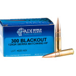 20 Rounds of .300 AAC Blackout Ammo by ADI World Class - 125gr HP MatchKing