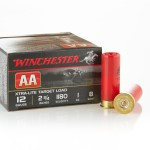 "25 Rounds of 12ga Ammo by Winchester AA 2-3/4"" 1 ounce #8 shot"