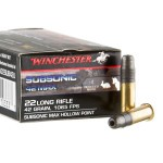 500 Rounds of .22 LR Ammo by Winchester - 42 gr LHP Subsonic