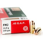 50 Rounds of .45 GAP Ammo by Sellier & Bellot - 230gr FMJ