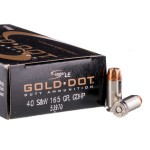 1000 Rounds of .40 S&W Ammo by Speer Gold Dot - 165gr JHP