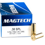 50 Rounds of .38 Spl Ammo by Magtech - 148gr Lead Wadcutter