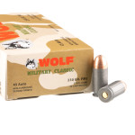 50 Rounds of .45 ACP Ammo by Wolf Military Classic - 230gr FMJ