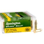 100 Rounds of .22 LR Ammo by Remington Golden Bullet - 40gr PRN