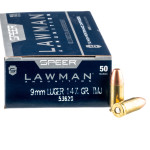 50 Rounds of 9mm Ammo by Speer - 147gr TMJ
