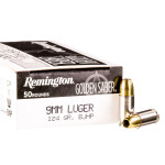 50 Rounds of 9mm Ammo by Remington Golden Saber - 124gr BJHP