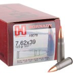 500  Rounds of 7.62x39mm Ammo by Hornady - 123gr SST