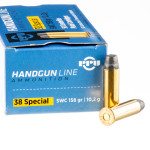 500 Rounds of .38 Special Ammo by Prvi Partizan - 158gr Semi-Wadcutter