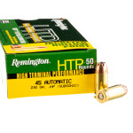 500  Rounds of .45 ACP Ammo by Remington HTP Subsonic - 230gr JHP