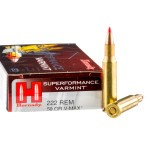 20 Rounds of .222 Rem Ammo by Hornady Superformance - 50gr V-Max