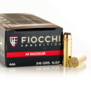 500 Rounds of .44 Mag Ammo by Fiocchi - 240gr JSP
