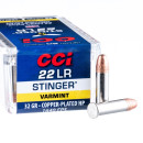 500 Rounds of .22 LR Ammo by CCI Stinger - 32 gr CPHP