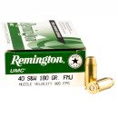 500 Rounds of .40 S&W Ammo by Remington - 180gr MC