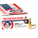 500 Rounds of .380 ACP Ammo by Winchester USA Target Pack - 95gr FMJ