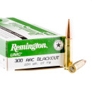 200 Rounds of .300 AAC Blackout Ammo by Remington - 220gr Open Tip Flat Base