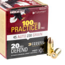 120 Rounds of .45 ACP Ammo by Federal Combo Pack - 230gr FMJ & JHP