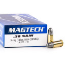50 Rounds of .38 S&W Ammo by Magtech - 146gr LRN